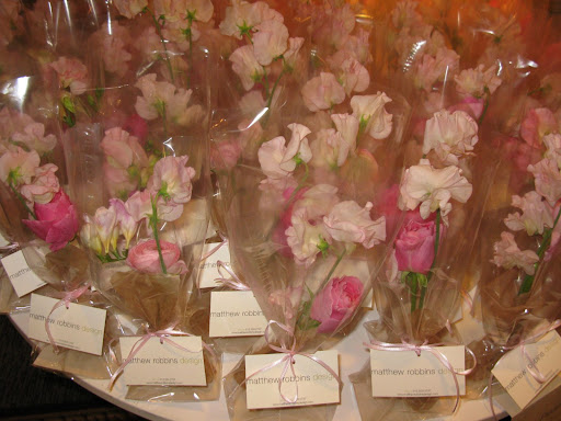 Matthew even brought beautiful pink posies for our guests to take home with them.