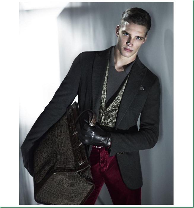 Florian Van Bael by Mert & Marcus for Armani F/W 13