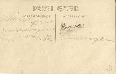 Postcard 1914 to 1917  Little Ernie ML Erhard back
