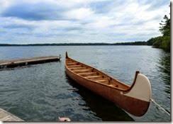 Huge Voyageur Canoe