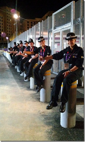 Officers at Olympics