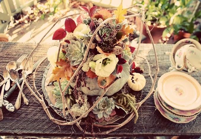rustic thanksgiving-pumpkin love n fresh flowers dot com