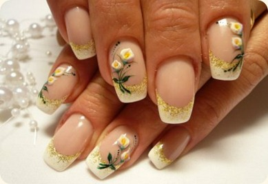 white-calla-lily-flower-nail-art-ideas