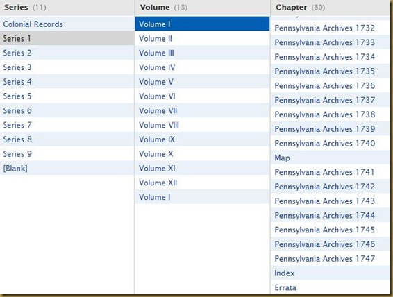 Pennsylvania Archives, Colonial Records, Series 1, Volume 1-3