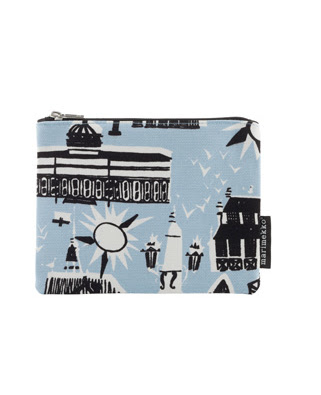 Kamppi.  The illustration on this zip top pouch is of Helsinki circa 1952.  So cute.