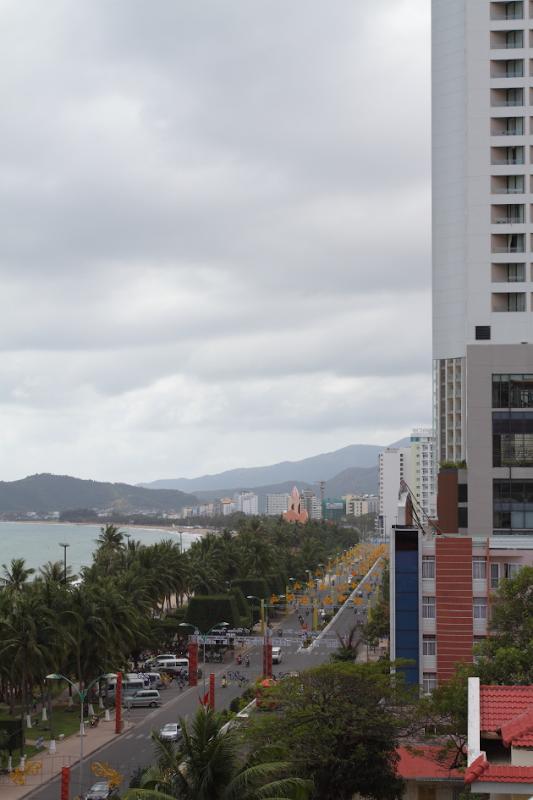 Nha Trang Marine Drive as seen from Nha Trang Center