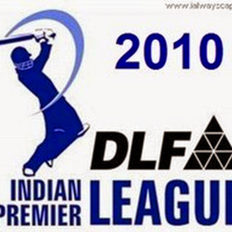 IPL 3 (Indian Premiere League) 2010 T20 Cricket Schedule : Twenty Twenty Cricket IPL is back.
