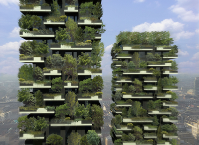 Bosco Verticale by Stefano Boeri. Bosco Verticale is a towering 27-story structure, currently under construction in Milan, Italy. Once complete, the tower will be home to the world's first vertical forest. stefanoboeriarchitetti.net