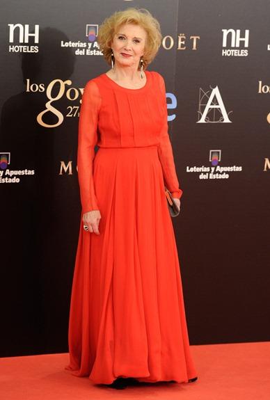 Marisa Paredes de Oscar de la Renta