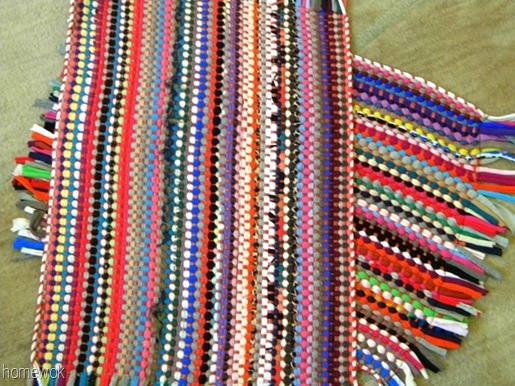 Sew And Tell Rag Rug Pillow