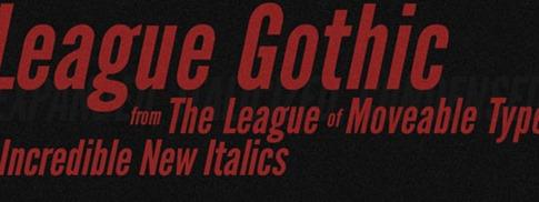 Fuente Liga Gothic