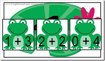 Frog Addition on Summation Lilypad