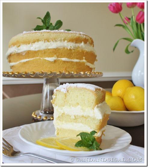sweet 16 lemon cream cake sand and sisal