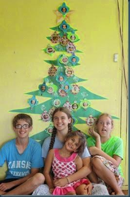 kids & Christmas tree