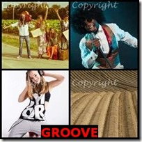 GROOVE- 4 Pics 1 Word Answers 3 Letters