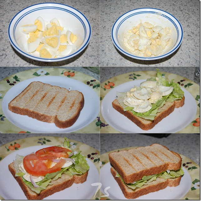 Egg salad sandwich process