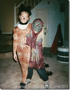 Halloween Ben and Caroline, about 2002