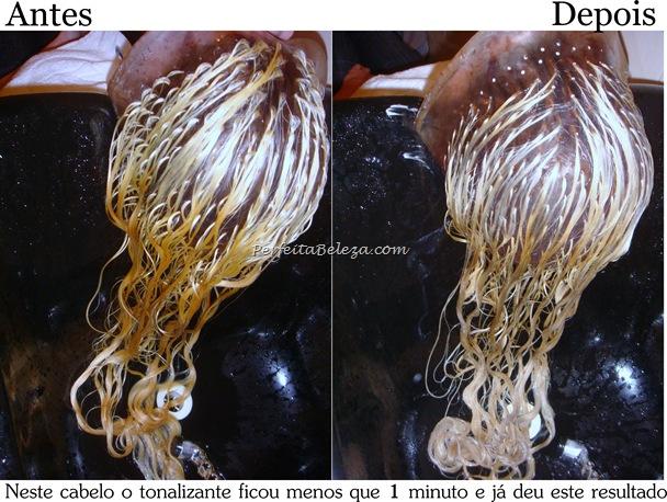 tonalizante antes e depois
