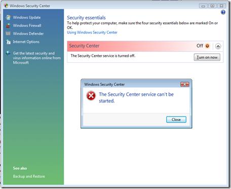 MPECS Inc. Blog: Windows Security Center: Windows Security Center