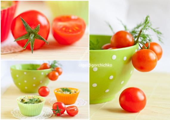 Тарталетки-киш с семгой и овощами
