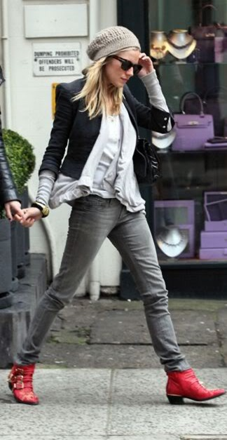 sienna-miller-red-ankle-boots