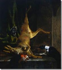 Jan_Baptist_Weenix_-_A_Dog_and_a_Cat_near_a_Partially_Disembowelled_Deer