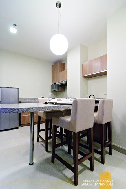 Kitchen and Breakfast Nook at Baguio City's Azalea Residences