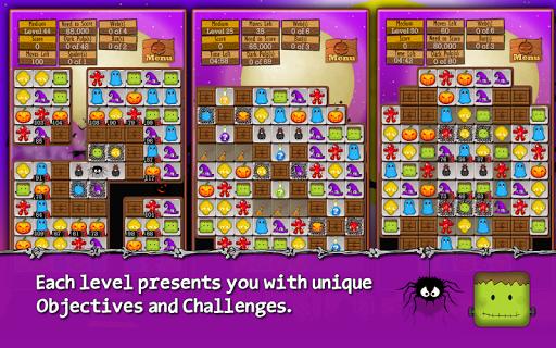 Halloween Drops - Match three - screenshot