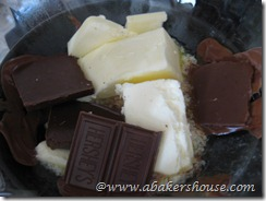 melt chocolate and butter