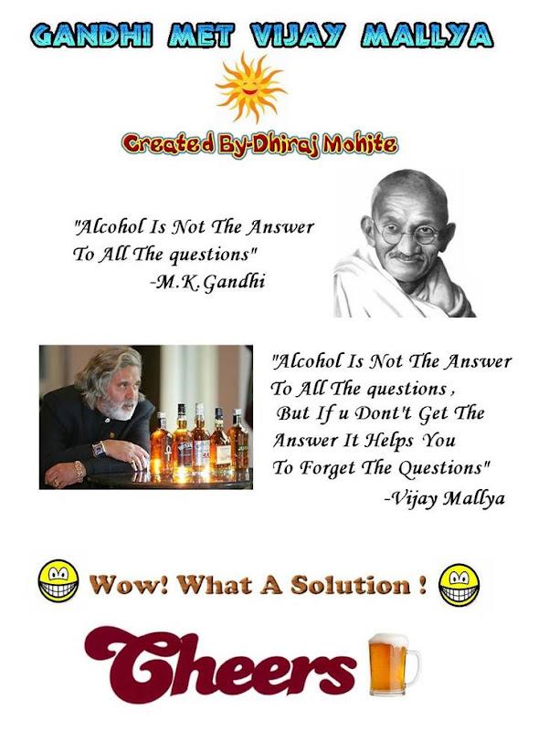 Gandhiji meets Vijay Mallya
