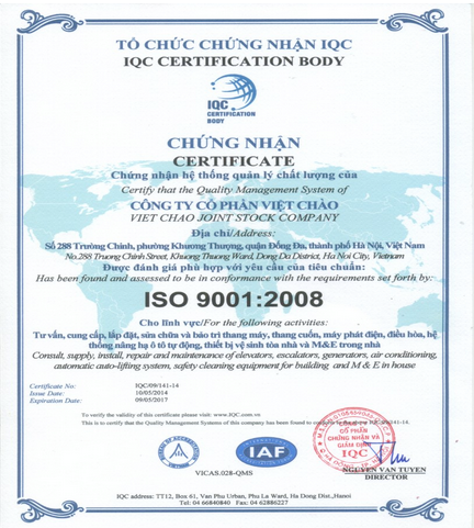 chung nhan quan ly chat luong iso 9001