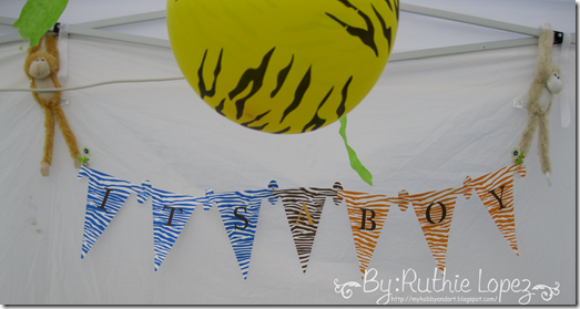 Banner It´s a Boy - Baby Shower Banner - Boy - Jungle Safary Theme