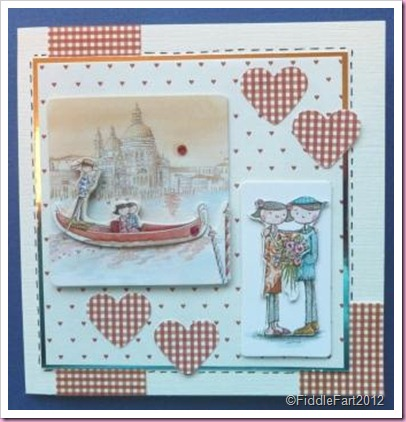 Docrafts Tulip Range Engagement Card Venice