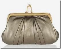 Christian Louboutin Metallic Leather Clutch