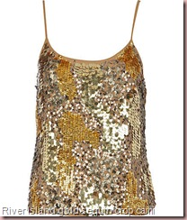gold sequin crop cami
