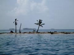 Tiny Caribbean islands in the Kuna Yala.