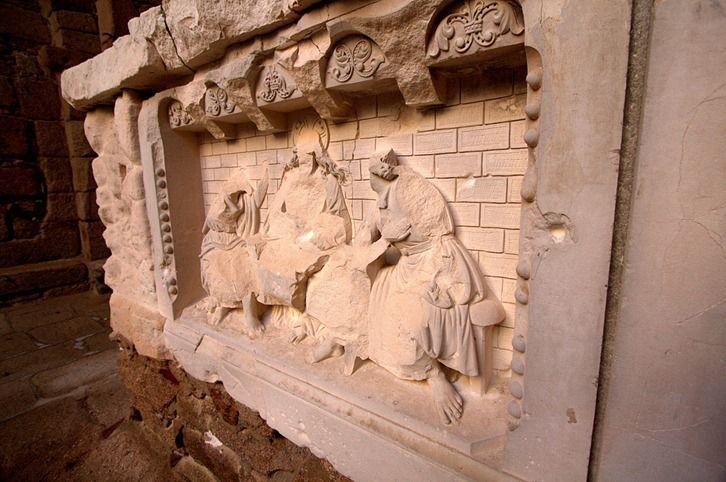 Oradour Church Altar with bullet holes