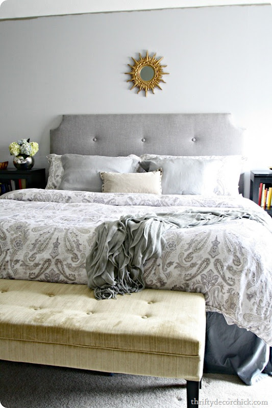 Padded Headboard Queen Diy: How to Make a DIY Tufted Headboard from Thrifty Decor Chick,