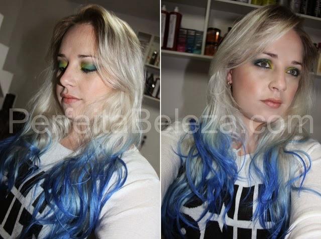 paso a passo cabelo azul, keraton hard colors Ecstasy Blue