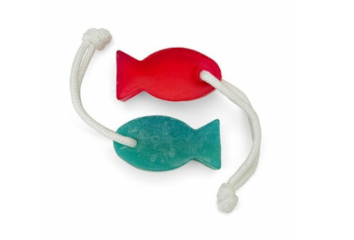 These fish soaps on a rope are just right for that outdoor shower that gets so much use. (chanceco.com)