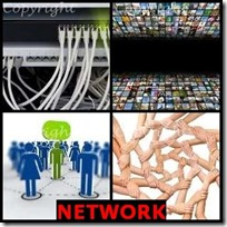 NETWORK- 4 Pics 1 Word Answers 3 Letters