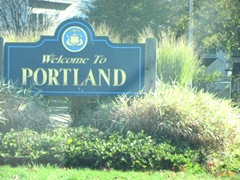 11.2011 Maine welcome to porland sign