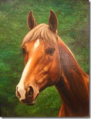 Adema G.J. 1898- Paardenhoofd doek 40x30cm