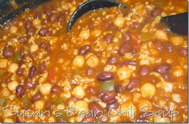 Susan's Meatless Bean Chili Soup @ Homeschooling Hearts & Minds