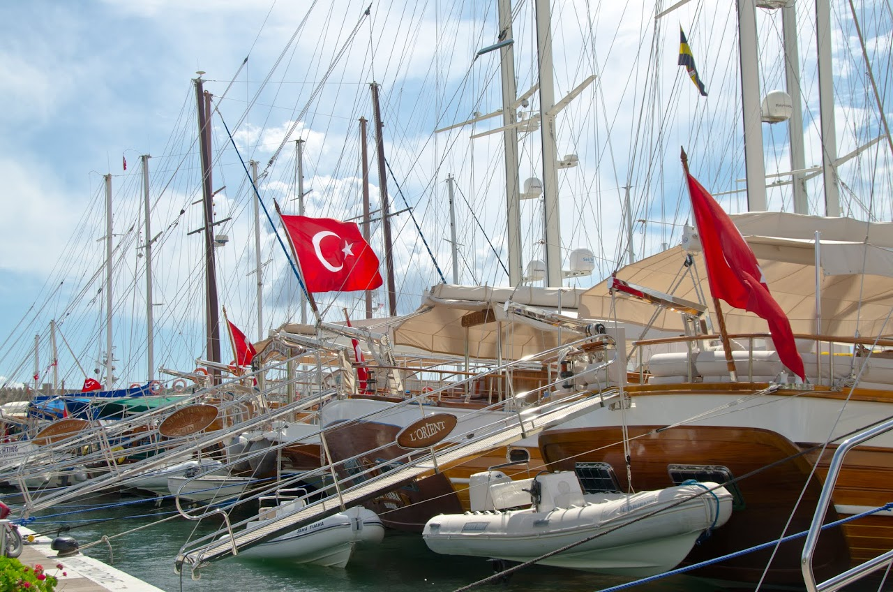 Flags in Bodrum