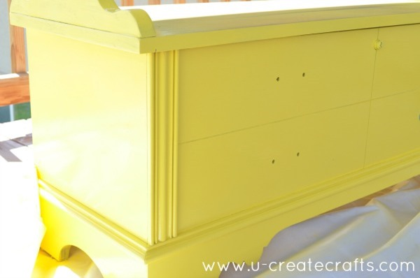DIY Cedar Chest Makeover 5