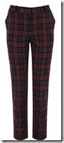 Oasis Slim Claret Plaid Trouser