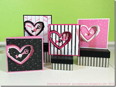 Happy Valentine's Day cards by @gscrapbooks
