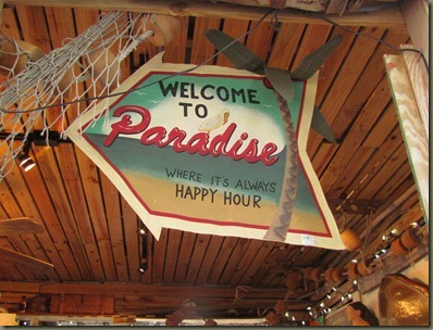 welcome to paradise where its always happy hour