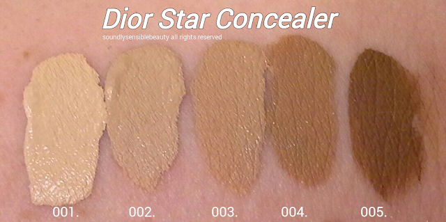 Dior Star Concealer Swatches of Shades